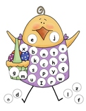 Easter Lowercase Alphabet Mat