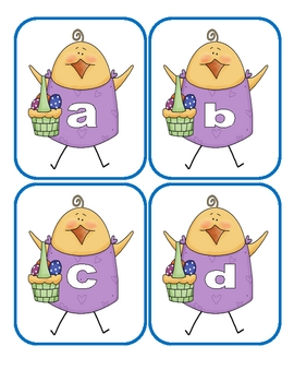 Easter Lowercase Flashcards