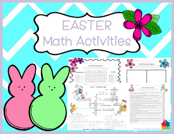 Easter MATH Activities 3rd and 4th Grade