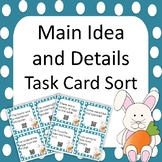 Easter - Main Idea and Supporting Details Task Card Activity Sort - QR Codes