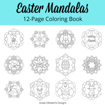 Easter Mandala Coloring Book