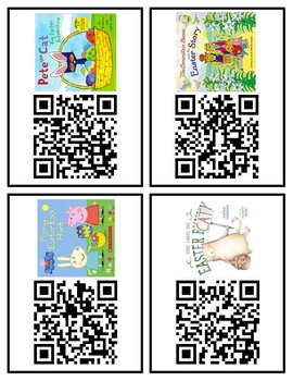Easter March or April QR Codes for Listening Center