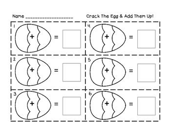 Easter Math Center: Crack the Egg & More