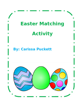 Easter Matching Activity