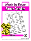 Easter Matching - Print, Answer & Color Worksheets - 5 Pages
