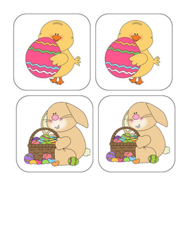 Easter - Matching and Memory Game - 11 pairs!