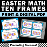 10 Frames Task Cards Distance Learning Packet Easter Math