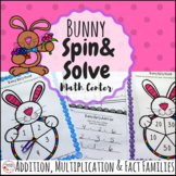 Bunny Spinner Addition and Multiplication Easter Math Fact Game