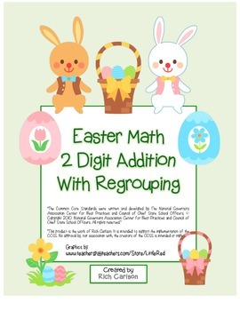 """Easter Math"" 2 Digit Addition With Regrouping - Common Co"