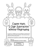 """Easter Math"" 2 Digit Subtraction Without Regrouping (black line)"