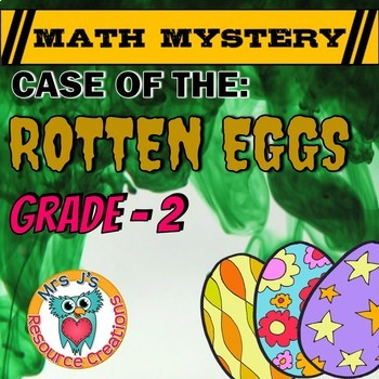 2nd Grade Easter Activity- Easter  Math Mystery - Case of The Rotten Eggs