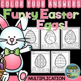Color By Number Funky Easter Eggs Multiplication