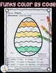 Color By Numbers Funky Easter Eggs Multiplication