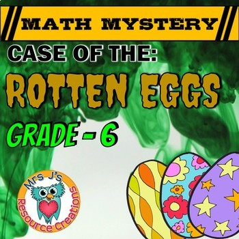 Easter Math Activity: Math Mystery {Decimals Fractions Integers Equations Mean}