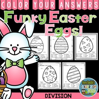 Color By Numbers Funky Easter Eggs Division