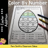 Color By Numbers Easter Eggs Addition Color By Code Worksheets