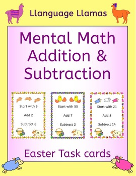 Easter Mental Math Addition and Subtraction Task Cards