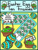 Easter Math Activities: Easter Egg Ten Frames Spring Math Activity - Color