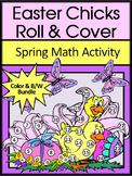 Easter Activities: Easter Chicks Easter Roll & Cover Spring Math Activity Packet