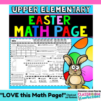 Easter Math: Worksheet Activity