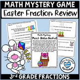 Easter Math 3rd Grade Fraction Game and Math Centers Comparing Fractions