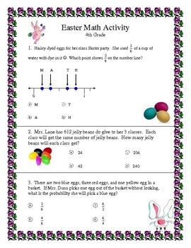 Easter Math 4th Grade