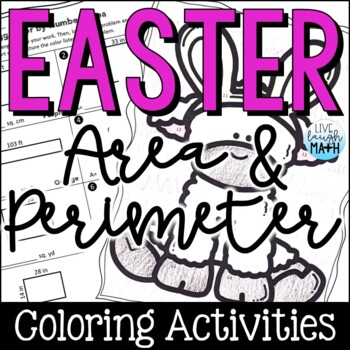 Easter Math: Area & Perimeter Color by Number