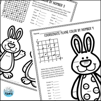 Easter Math: Coordinate Plane Color by Number Easter Activities