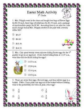 Easter Math 5th Grade