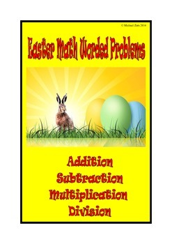 Easter Math Activities 100 worded problems