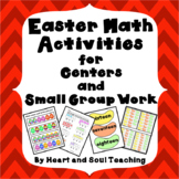 Easter Math Activities For Centers and Small Group Work