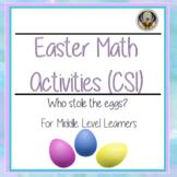 Easter Math Activities (CSI)