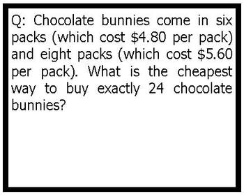 Easter Math Activities Worded Problems 3rd 4th