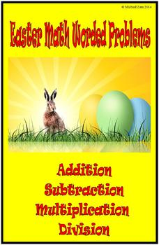 Easter Math Activities Worded Problems 5th 6th 7th