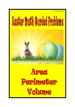 Easter Math Activities Worded Problems Area, Perimeter and Volume