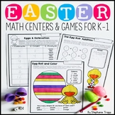 Easter Math Games and Centers for Kindergarten and First Grade