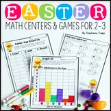 Easter Math Games and Centers for Second and Third Grade