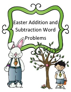 Easter Math Activity Addition and Subtraction Word Problems Joke