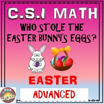 Easter Math Activity: Advanced Edition. Easter CSI Math -