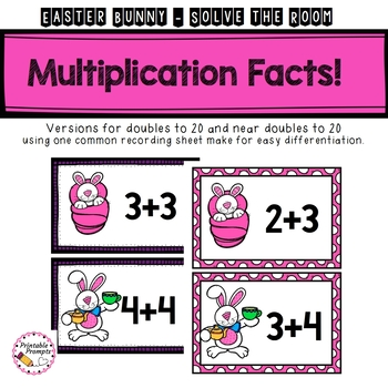 Easter Math Activity- Bunny Addition Solve and Write the Room