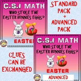 Easter Math Activity: CSI Math Combined Standard+Advanced - Who Stole The Eggs?