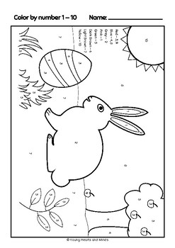 Easter Math Activity Color by Number (ENG US)