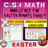 Easter Math CSI -Who Done it? Printable + Google Classroom