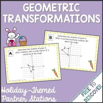 Easter Math Activity - Geometric Transformations