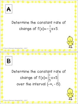Easter Math Activity - Rate of Change of Functions
