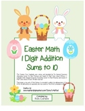 """Easter Math"" Add Within 10 - Common Core - Addition Fun! (color version)"