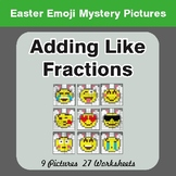 Easter Math: Adding Like Fractions - Color-By-Number Myste