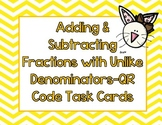 Easter Math-Adding and Subtracting Fraction Task Cards with QR Codes
