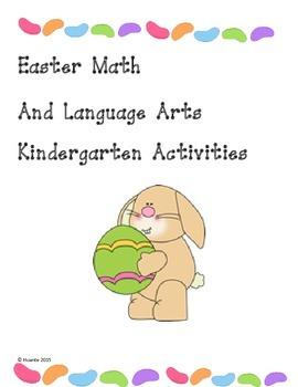 Easter Math And Language Arts Kindergarten Activities