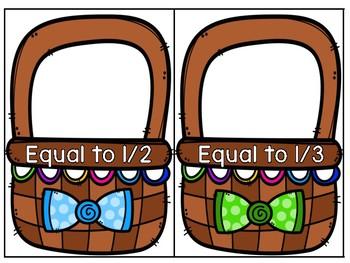 Easter Math Baskets - Equivalent Fractions